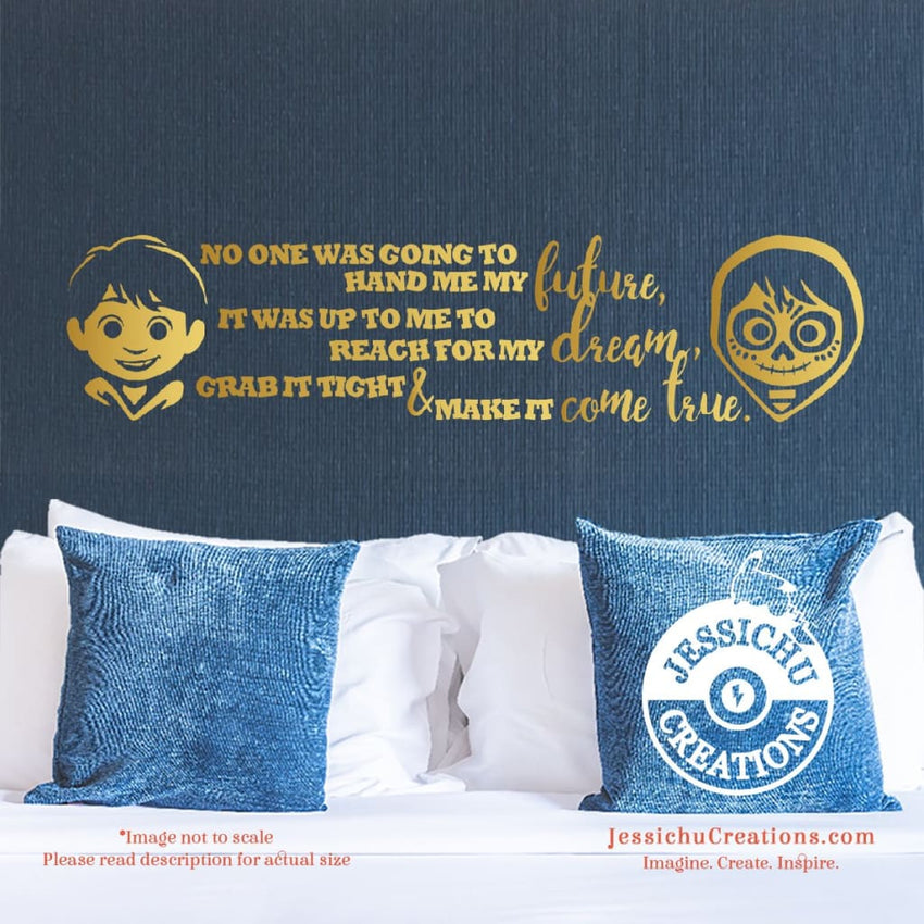 Coco Inspired Disney Pixar Quote Wall Vinyl Decal | Decals | Decals | Jessichu Creations