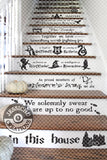 In This House... We Do Magic Stairs Vinyl Decal - Home Decor