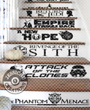Star Wars Movie Title Stairs Vinyl Decal - Home Decor