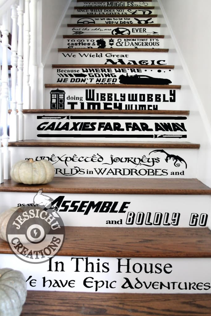 We Do Geek Stairs Vinyl Decal - In this House Home Decor Decals