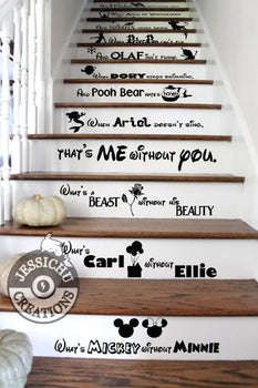 What's Mickey Without Minnie Stairs Vinyl Decal - Home Decor Decals