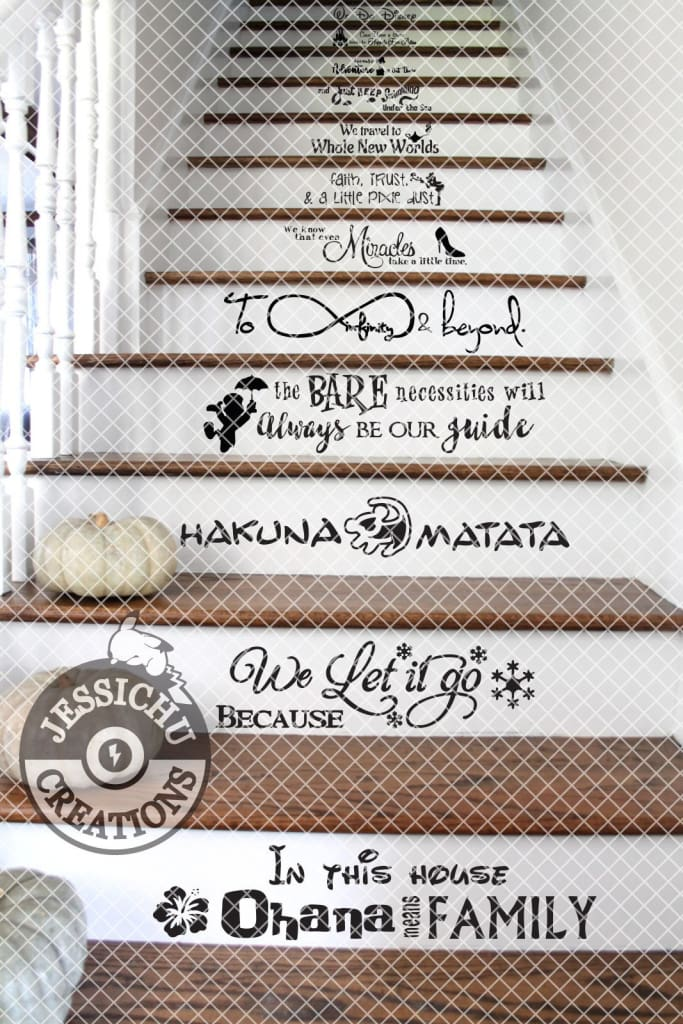 We Do Disney Stairs Vinyl Decal - In This House Home Decor Decals
