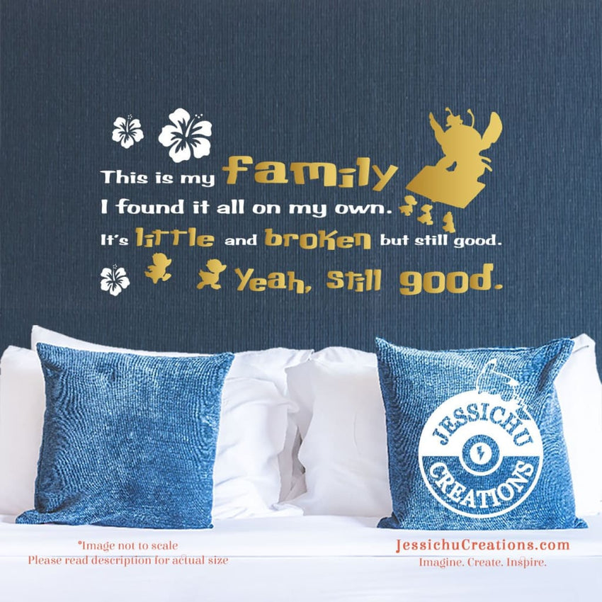 This Is My Family - Disney Lilo And Stitch Inspired Wall Vinyl Decal Decals