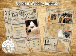Up Vintage Newspaper Wedding Invitation Programs Save The Date & Stationary Invitations