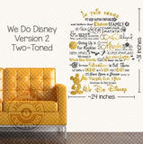 We Do Disney V2 Wall Vinyl Decal - In This House Inspired Home Decals