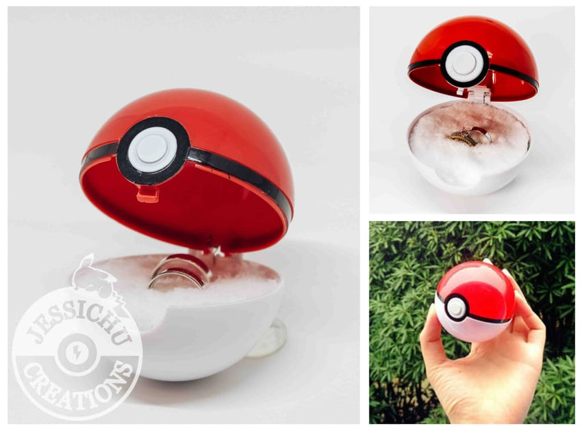 Pokemon Pokeball Masterball Loveball Ring Box I Choose You Wedding Proposal | Pikachu | Jessichu Creations