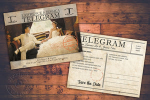 Vintage Postcards Wedding Invitation Programs Save The Date & Stationary Invitations