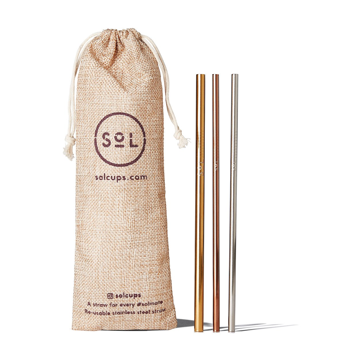 SoL Cups Stainless Steel Straw Kit from One Less Eco Living Co.