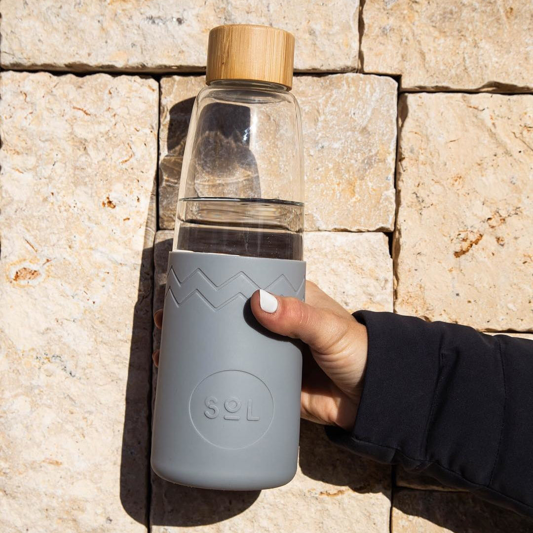 SoL Cups Grey Water Bottle from One Less Eco Living Co.