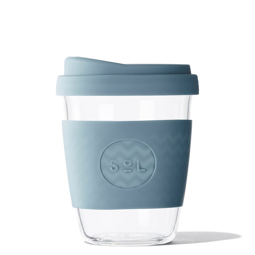 SoL Cups 12oz Blue Stone Glass Tumbler from One Less