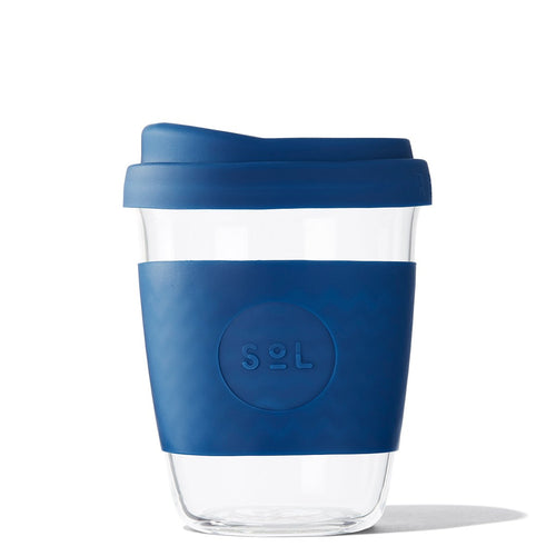 SoL Cups 12oz Winter Bondi Blue Glass Tumbler from One Less