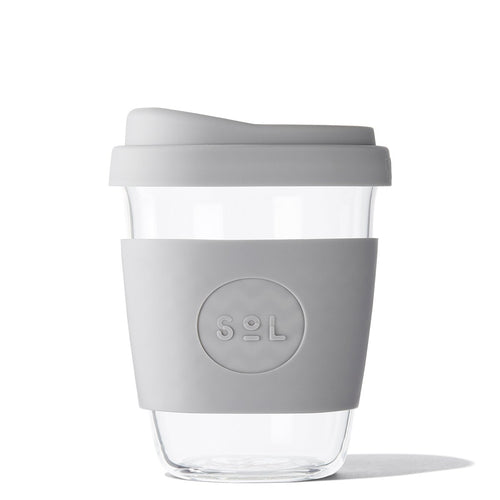 SoL 12oz Cool Grey Glass Tumbler from One Less