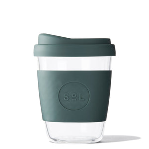 SoL Cups 12oz Deep Sea Green Glass Tumbler from One Less