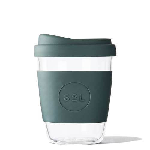 SoL 12oz Deep Sea Green Glass Tumbler from One Less