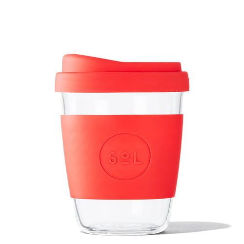 SoL 12oz Rocket Red Glass Tumbler from One Less