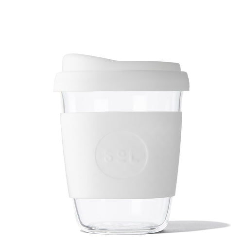 SoL Cups 12oz White Wave Glass Tumbler from One Less