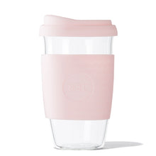 Eco Friendly SoL Cups 16oz Perfect Pink Hand Blown Glass Coffee Tumbler from One Less - Available in Canada & USA