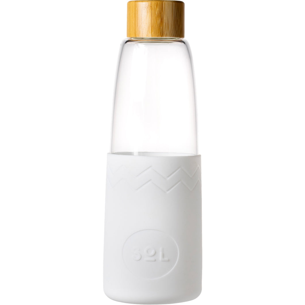 SoL White Wave Glass Bottle from One Less