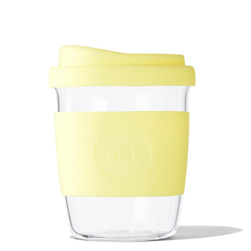 12oz Yummy Yellow Glass Tumbler from SoL Cups
