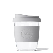 SoL Cups 8oz Cool Grey Glass Tumbler from One Less