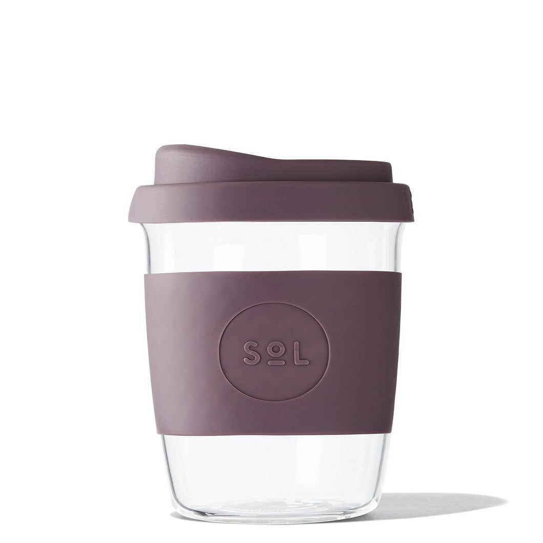 Eco Friendly SoL Cups Hand Blown Glass Tumblers from One Less - Mystic Mauve 8oz