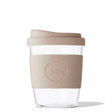 Eco Friendly SoL Cups 8oz Seaside Slate Hand Blown Glass Coffee Tumbler from One Less - Available in Canada & USA