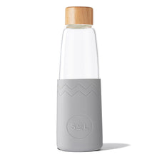 Eco Friendly SoL Cups Hand Blown Glass Water Bottle from One Less - Cool Grey