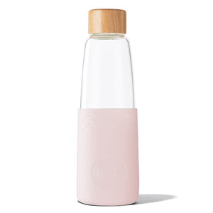 Eco Friendly SoL Cups Perfect Pink Hand Blown Glass Water Bottle from One Less