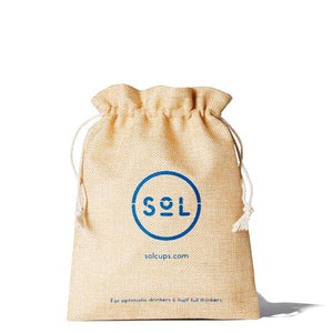 SoL Cups leak proof jute cup pouch from One Less