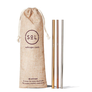 Eco Friendly SoL Cups Stainless Steel Straw Kit from One Less