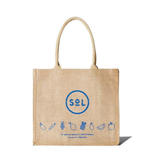 SoL Cups jute tote shoulder carry bag from One Less