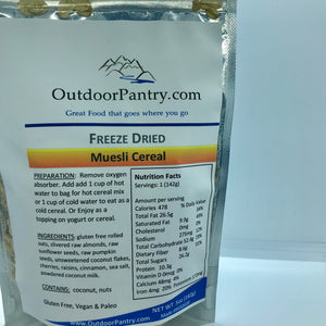 Freeze Dried Muesli Cereal - OutdoorPantry.com