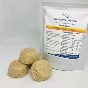 Freeze Dried Vanilla Coconut Cookie - OutdoorPantry.com