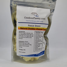 Freeze Dried Natural Cheddar Cheese Curds - OutdoorPantry.com