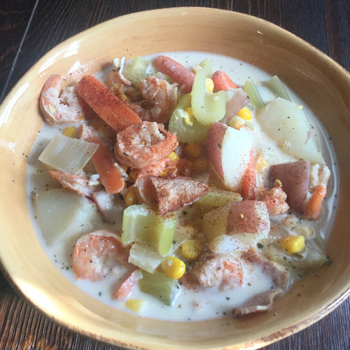Freeze Dried Shrimp and Bacon Corn Chowder - OutdoorPantry.com