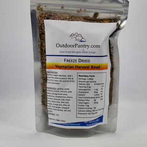 Freeze Dried Vegetarian Harvest Bowl - OutdoorPantry.com