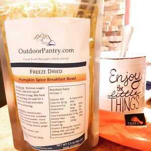 Freeze Dried Pumpkin Spice Breakfast Bowl - OutdoorPantry.com