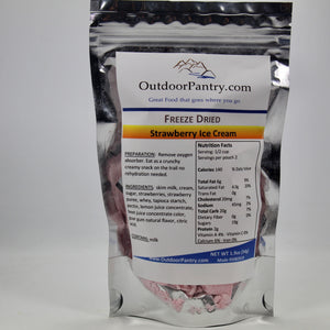 Freeze Dried Strawberries and Vanilla Ice Cream - OutdoorPantry.com