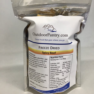 Freeze Dried Spicy Ground Beef