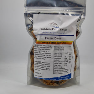 Freeze Dried Quinoa and Black Bean Chili - OutdoorPantry.com