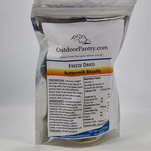 Freeze Dried Buttermilk Biscuits - OutdoorPantry.com