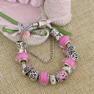 Breast Cancer Awareness Charm Bracelet- Limited Edition