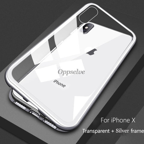 Image of Magnetic Adsorption Metal Case for iPhone