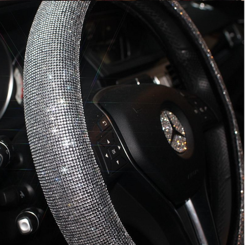 Image of CRYSTAL STEERING WHEEL COVER