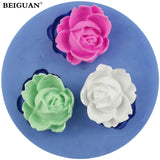 3D Rose Flower Fondant Silicone Mold