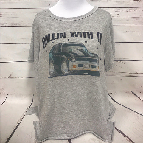 Wheelin & Dealin High Neck Tee