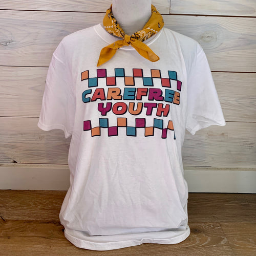 Colorful Carefree Youth Tee