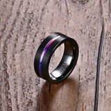 Rainbow & Black -  Tungsten Ring