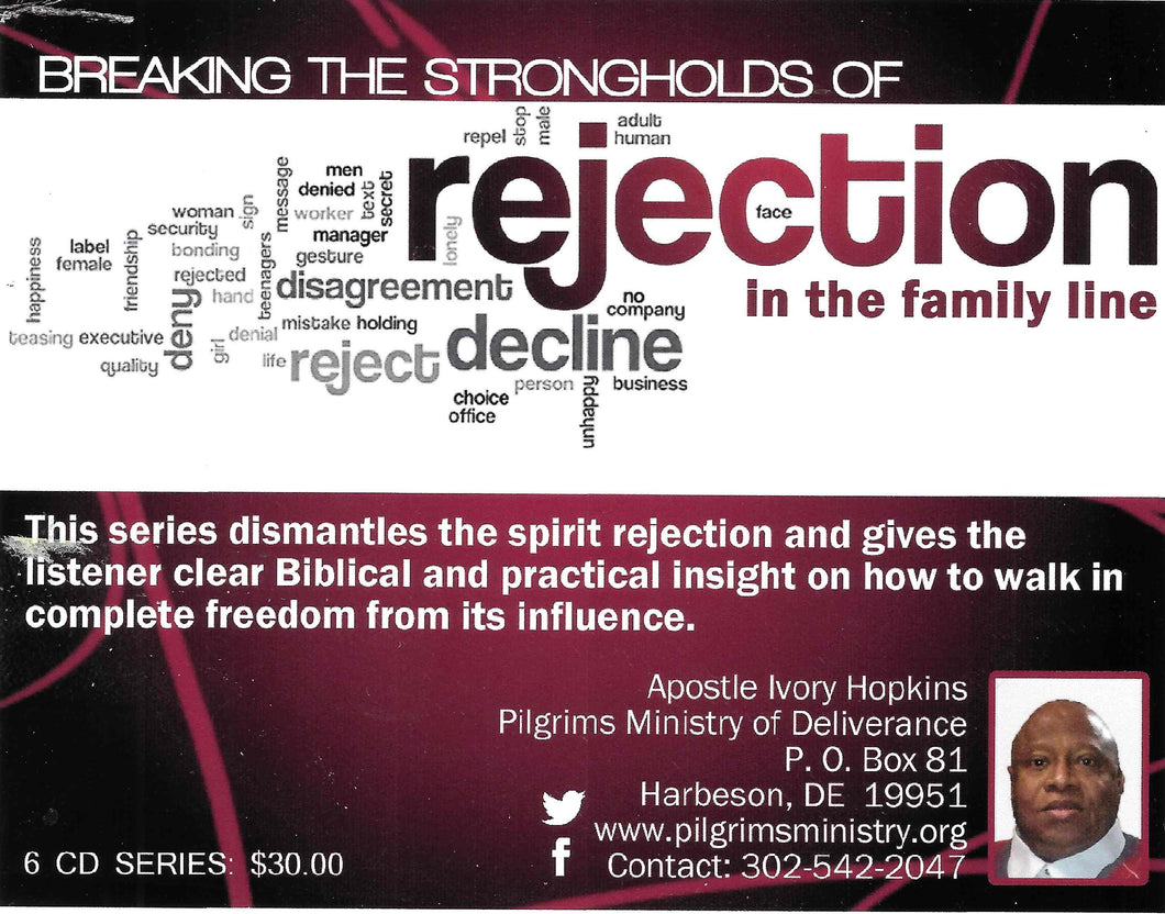 MP3 - 1 - REJECTION SERIES  - MANIFESTATIONS OF REJECTION AND DEEP HURT IN THE BIBLE