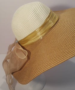 Sun Hat with glossy ribbon